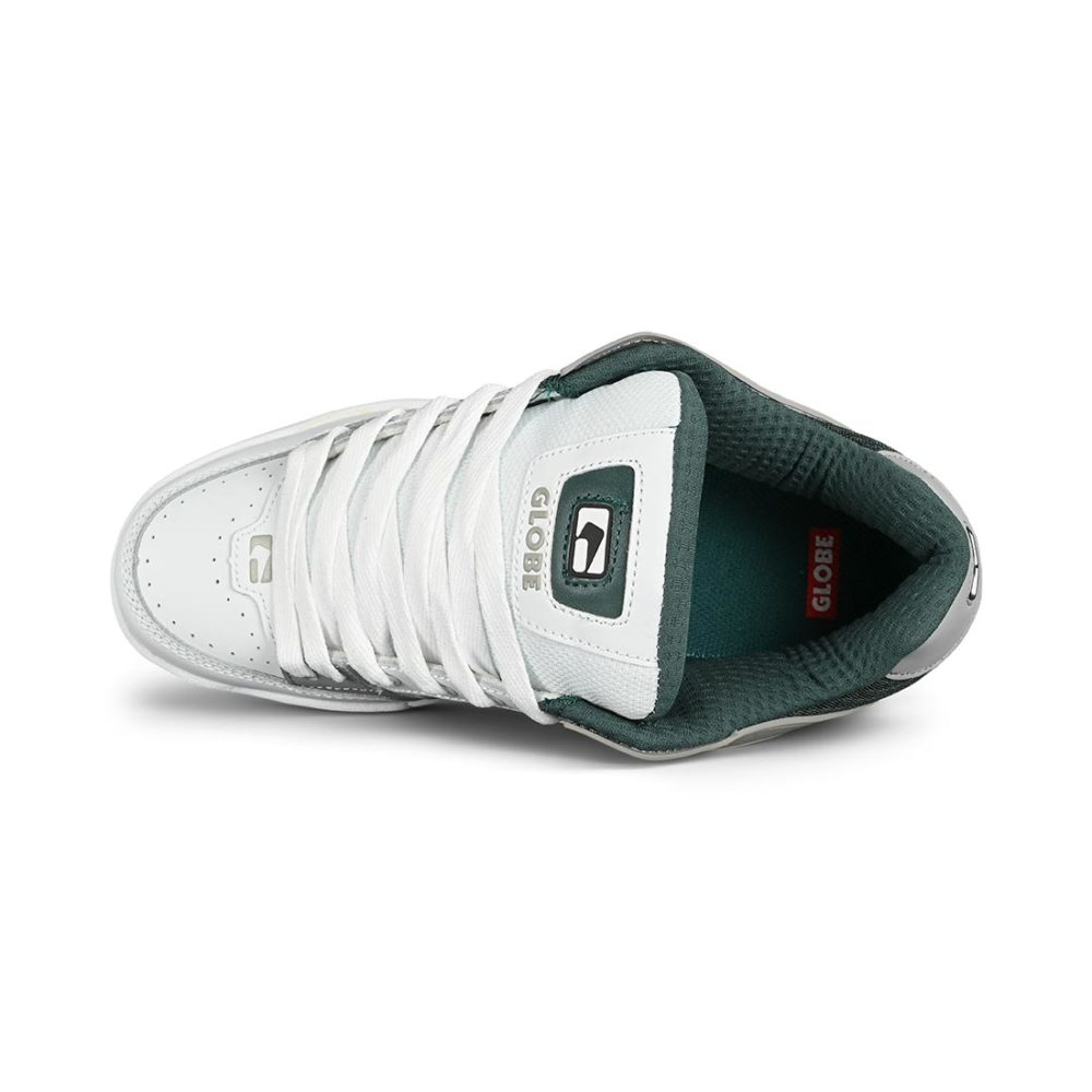 Globe Tilt Skate Shoes - White / Grey / Green