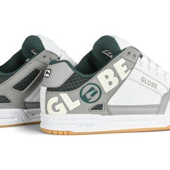 Globe Tilt Skate Shoes - White / Grey / Green