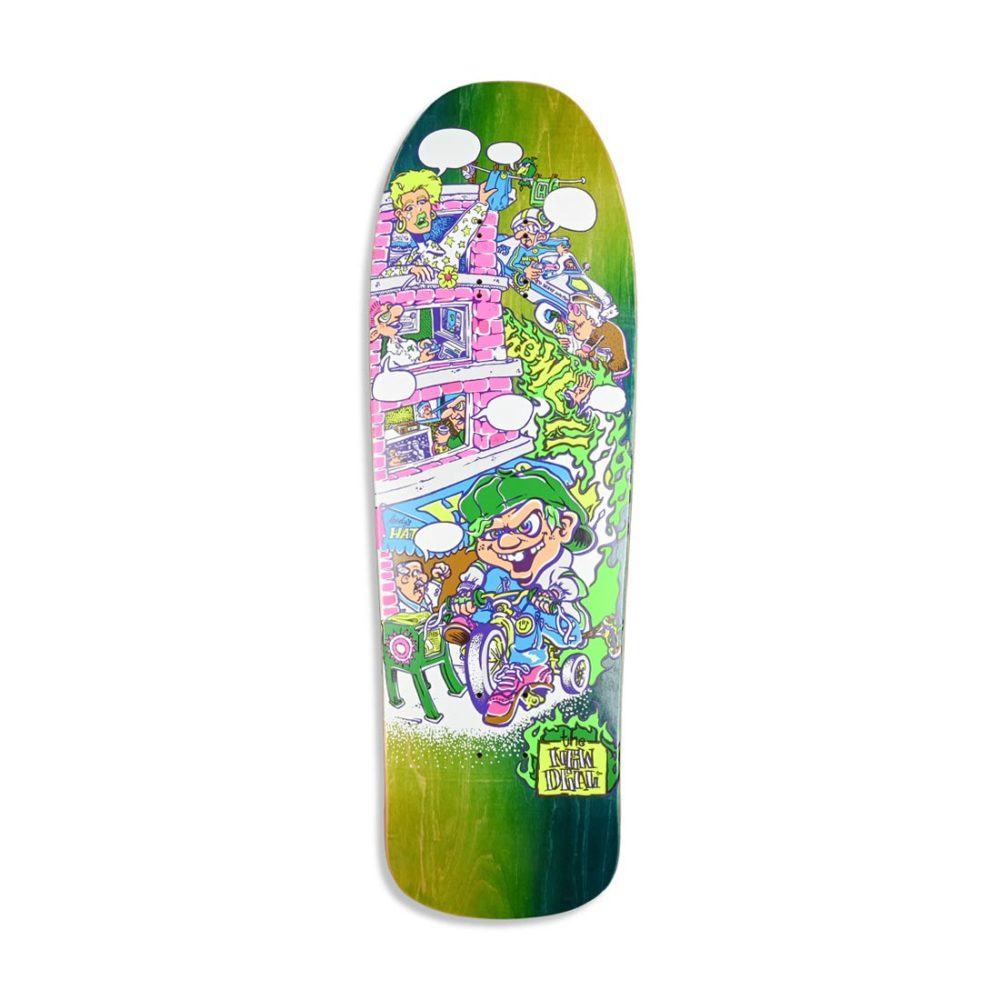 """New Deal Howell Tricycle Kid Neon HT 9.625"""" Reissue Skateboard Deck"""