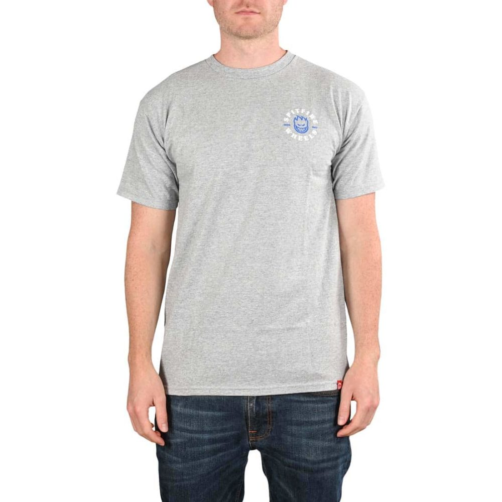 Spitfire Bighead Classic S/S T-Shirt - Athletic Heather / Blue / White