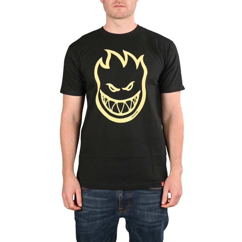 Spitfire Bighead S/S T-Shirt - Black / Raw Discharge