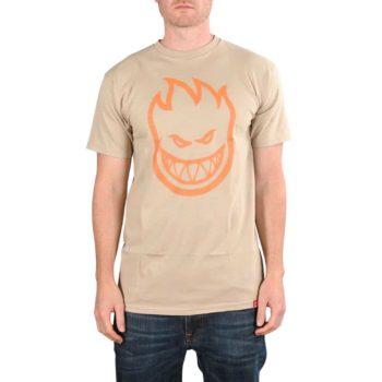 Spitfire Bighead S/S T-Shirt - Sand / Orange