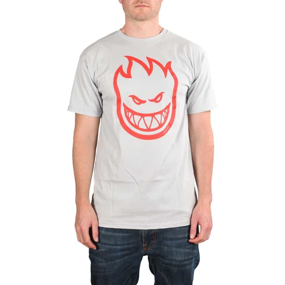 Spitfire Bighead S/S T-Shirt - Silver / Red