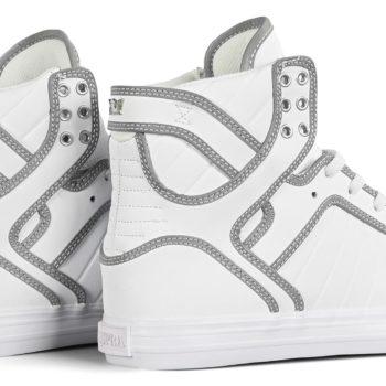 Supra Skytop High-Top Shoes - White / Reflective / White