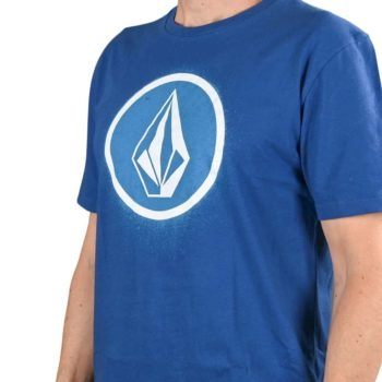 Volcom Spray Stone LTW S/S T-Shirt - Deep Water