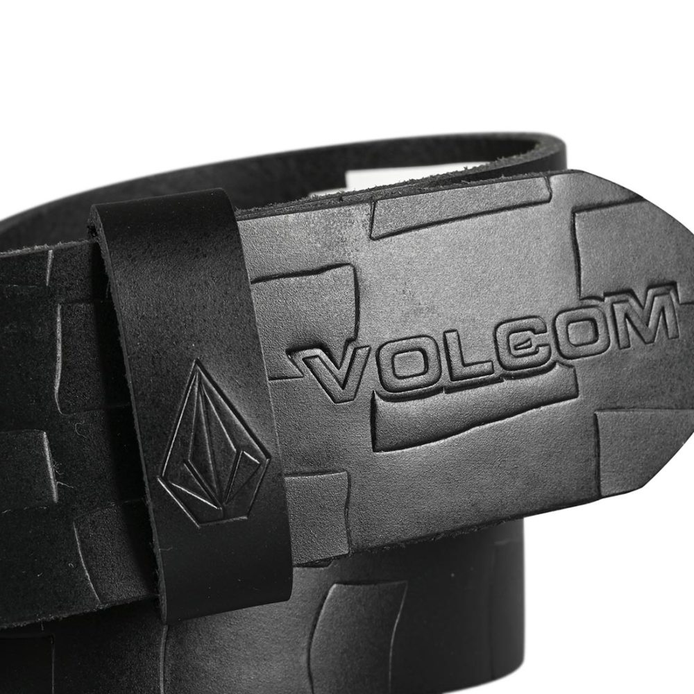 Volcom Stone MB Leather Belt - Blackv