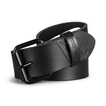 Volcom Straight Leather Belt - Black