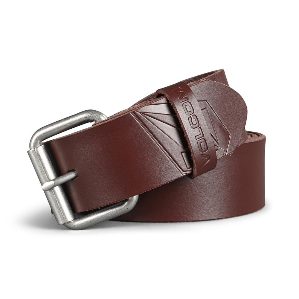 Volcom Straight Leather Belt - Brown