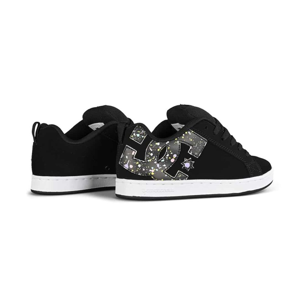 DC Shoes Women's Court Graffik - Black / Splatter