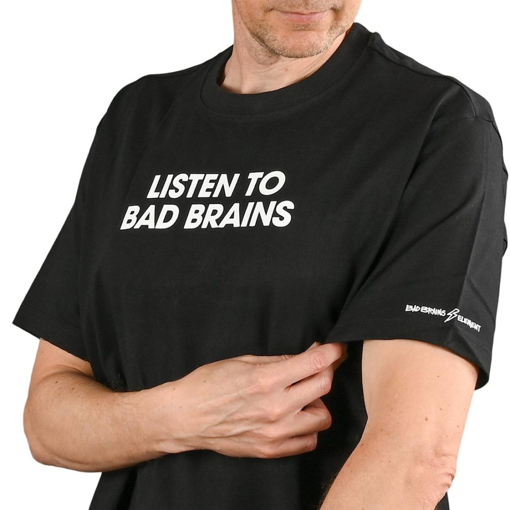 Element Listen To Bad Brains S/S T-Shirt - Flint Black
