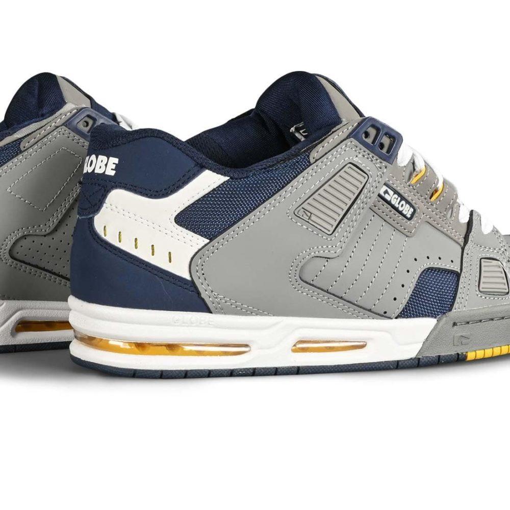 Globe Sabre Skate Shoes - Grey / Navy / Yellow