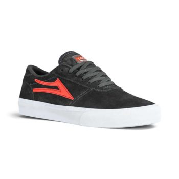 Lakai Manchester Skate Shoes - Charcoal / Flame Suede
