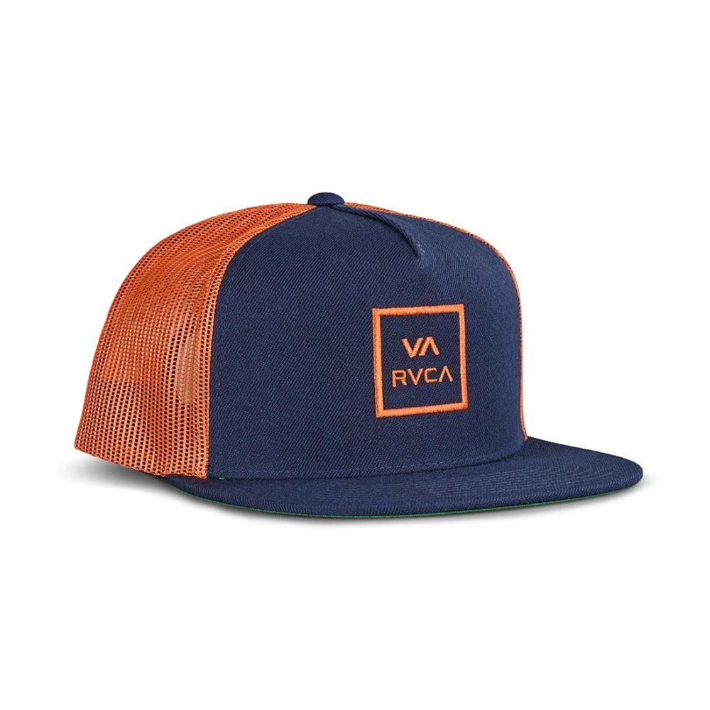 RVCA VA All The Way Trucker Cap - Navy / Rust