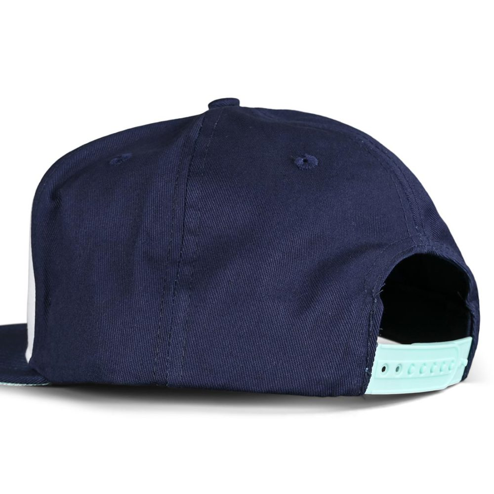 Santa Cruz Not A Dot Snapback Cap - White / Dark Navy