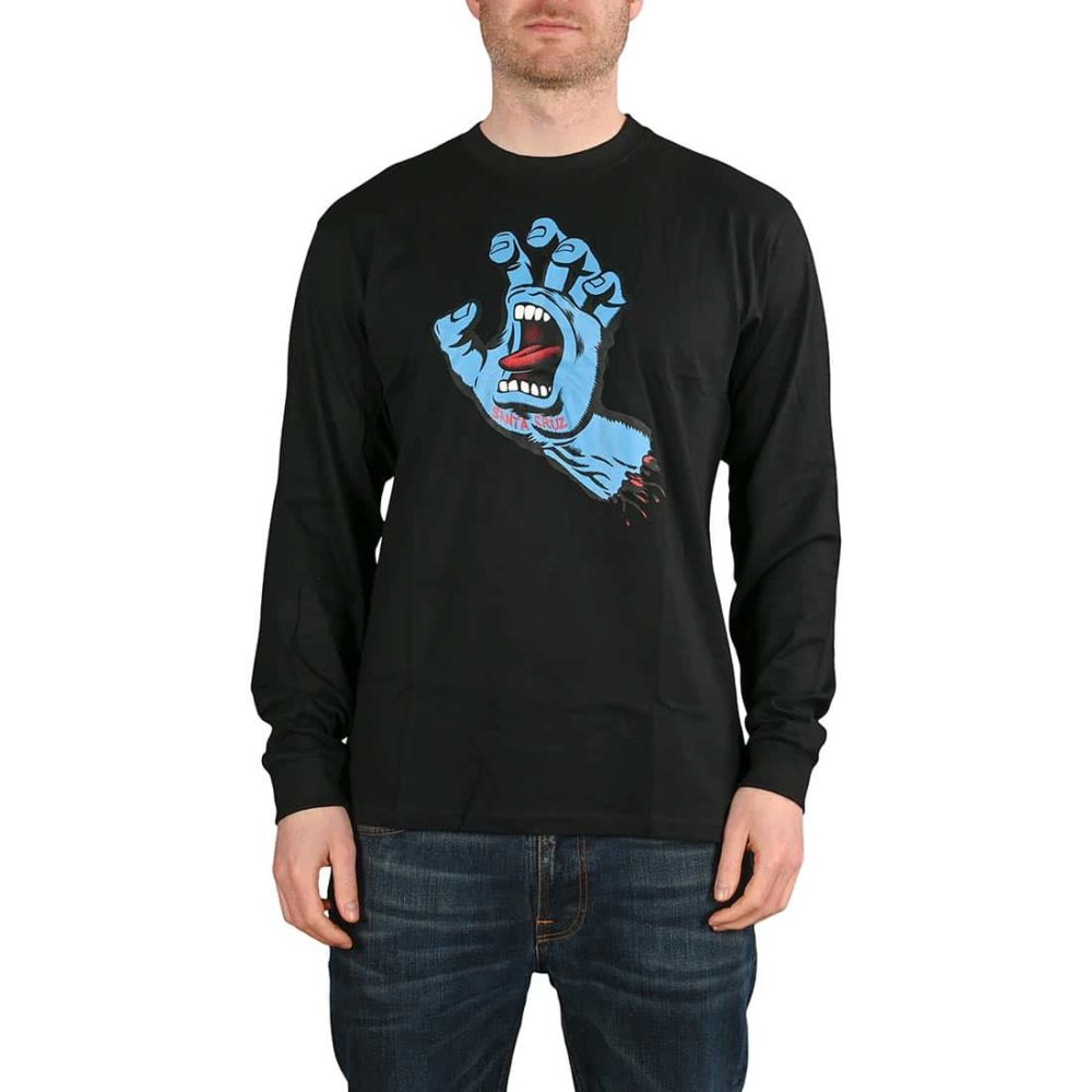 Santa Cruz Screaming Hand L/S T-Shirt - Black