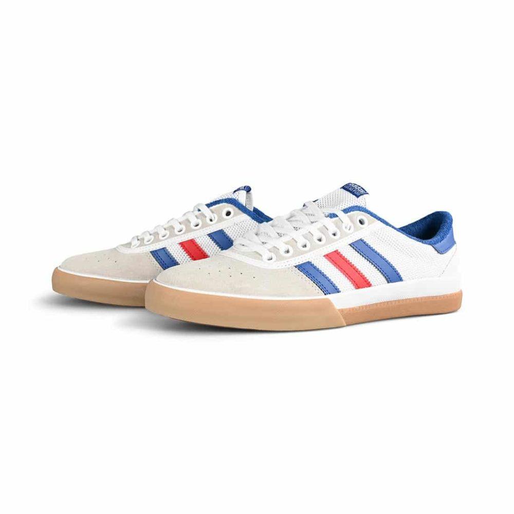 Adidas Lucas Premiere Skate Shoes - Cloud White / Collegiate Royal / Crystal White