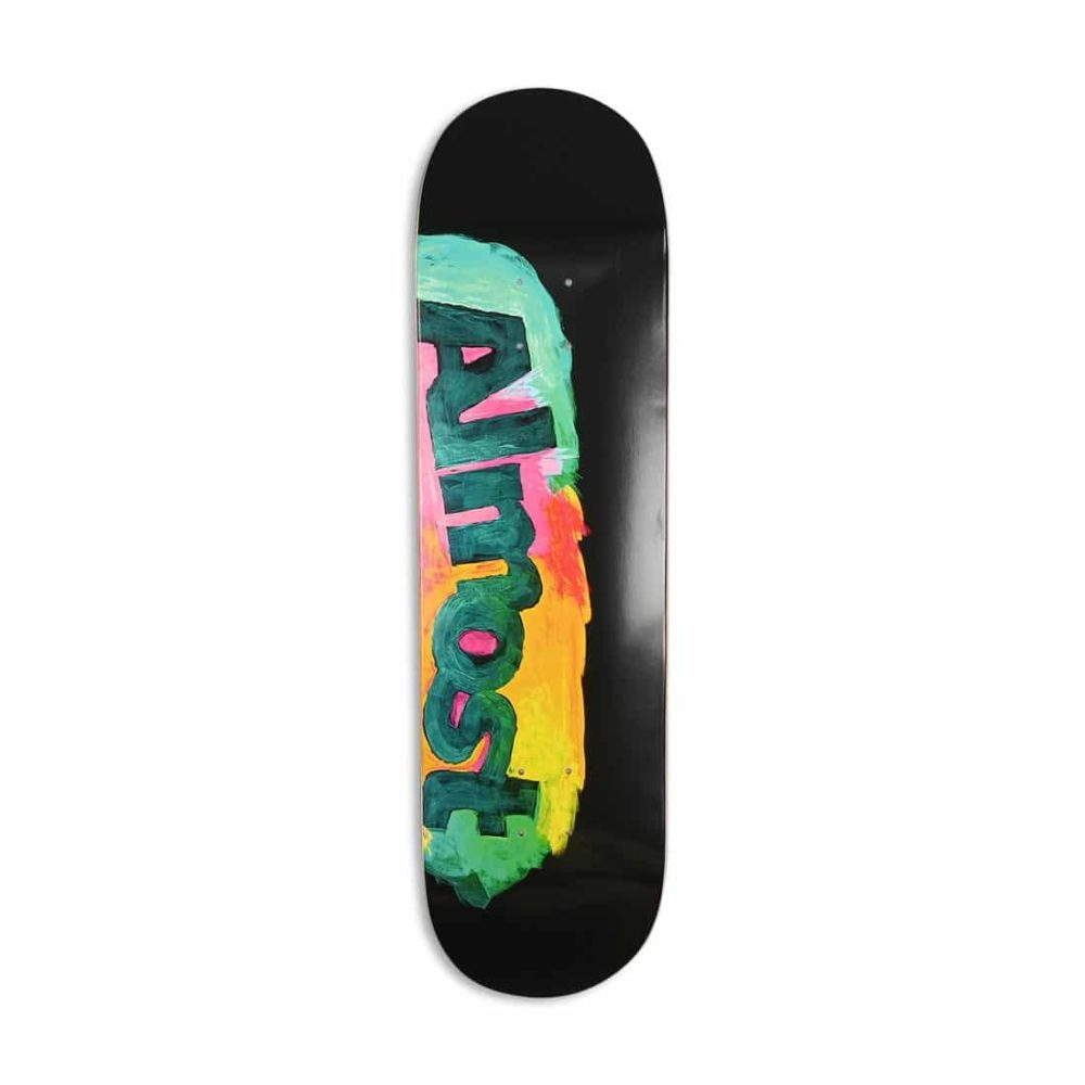 "Almost Side Smudge HYB 8.5"" Skateboard Deck - Black"