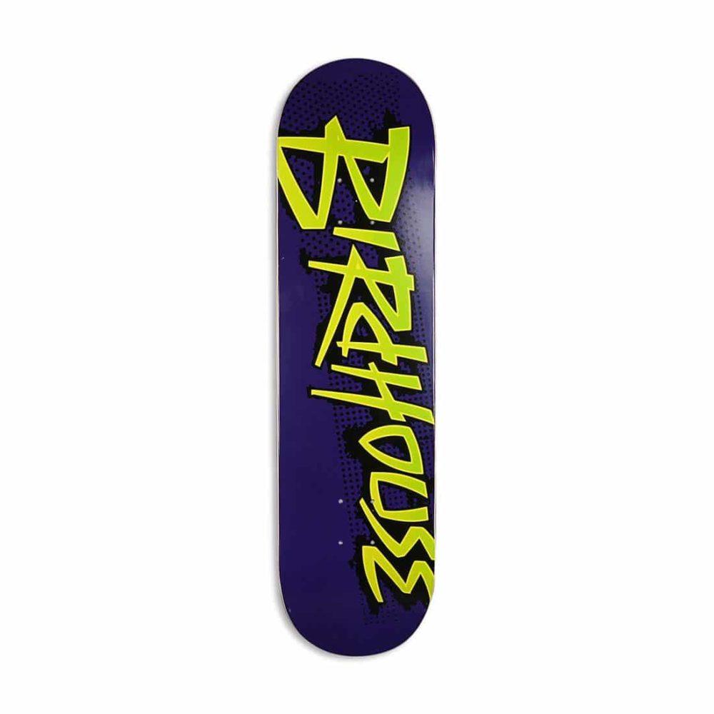 """Birdhouse Splatter Logo 8.125"""" Skateboard Deck - Purple"""