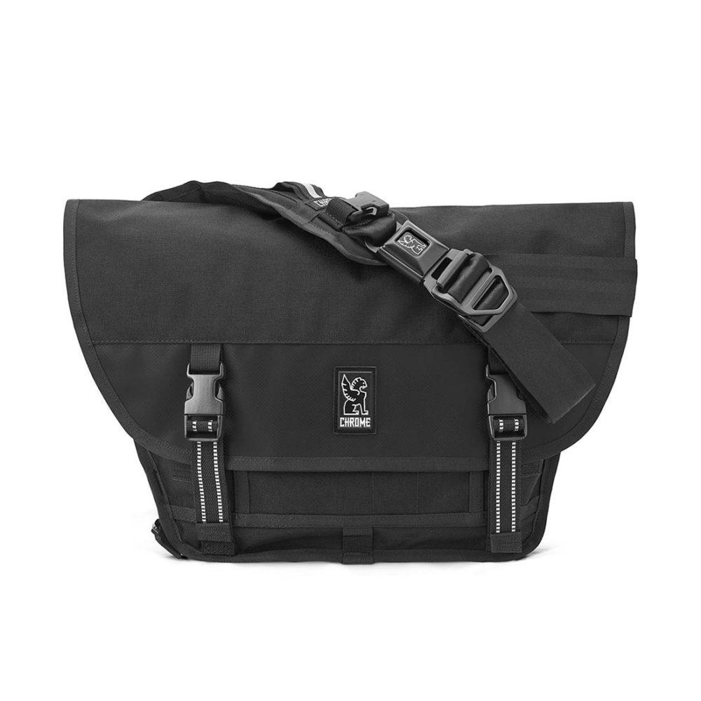 Chrome Mini Metro 20.5L Messenger Bag - Black / Black / Black
