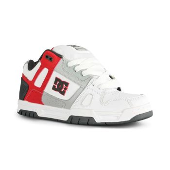 DC Shoes Stag - White / Grey / Red
