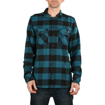 Dickies Sacramento L/S Shirt - Coral Blue