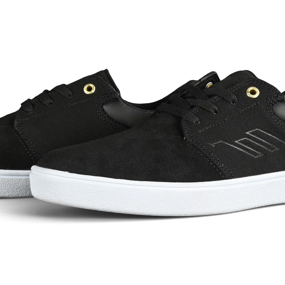 Emerica Alcove CC Skate Shoes - Black / White / Gold