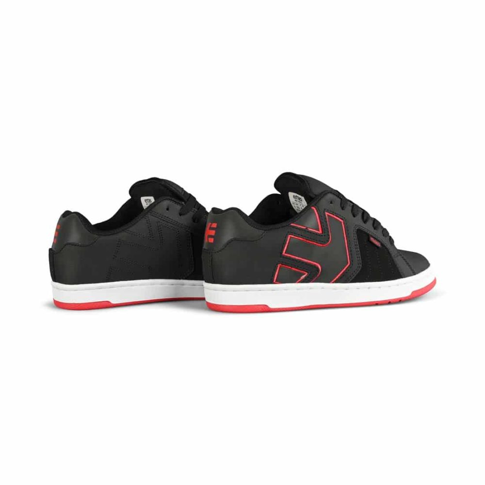 Etnies Fader 2 Skate Shoes - Black / White / Red