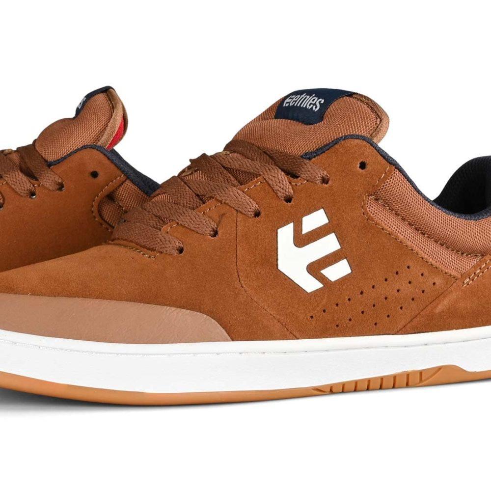 Etnies Marana Skate Shoes - Brown / Navy