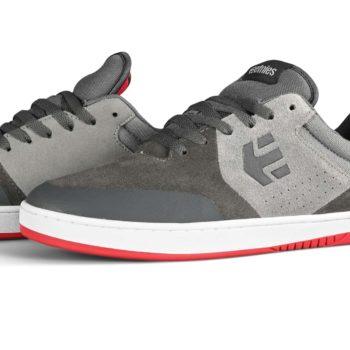 Etnies Marana Skate Shoes - Grey / Dark Grey / Red
