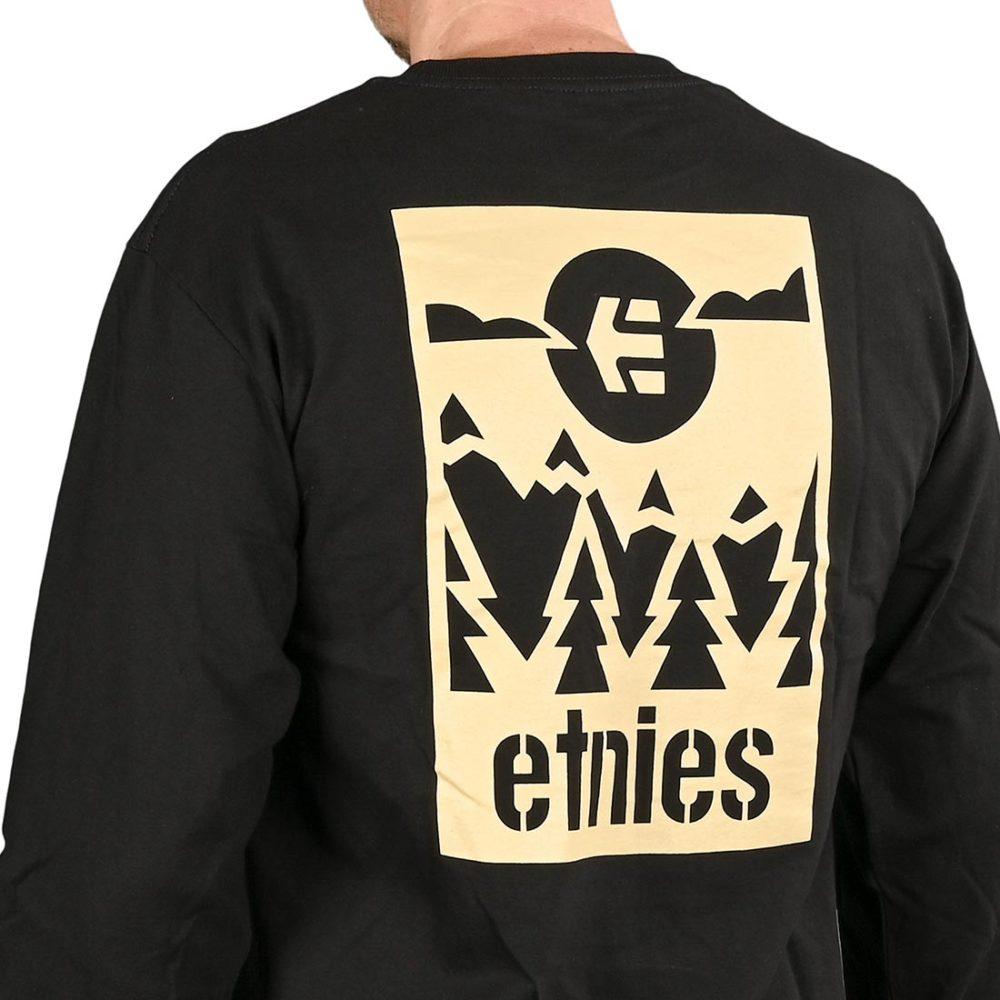 Etnies Label Gradient L/S T-Shirt - Black