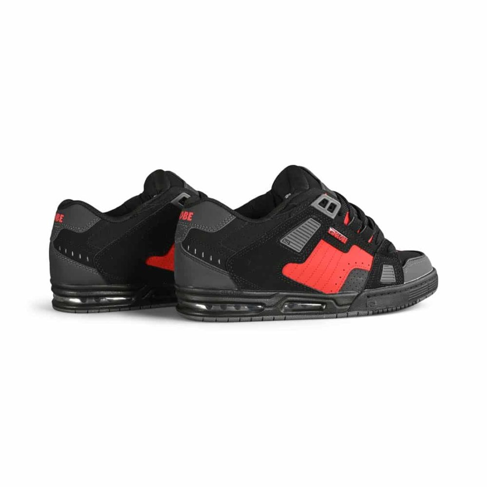 Globe Sabre Skate Shoes - Black / Red / Grey