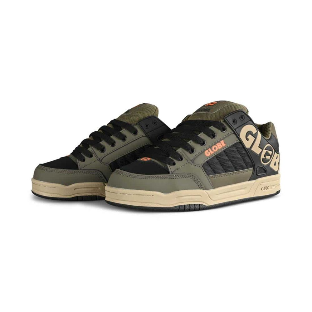 Globe Tilt Skate Shoes - Dusty Olive / Black