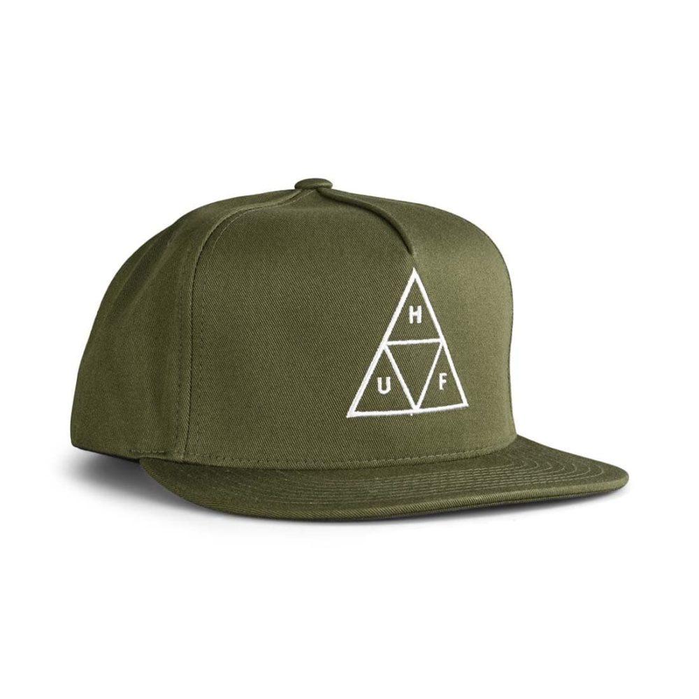HUF Essentials TT Snapback Hat - Olive