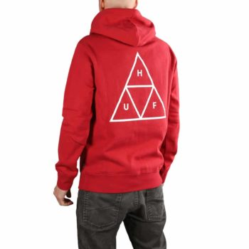 HUF Essentials Triple Triangle Pullover Hoodie - Rio Red