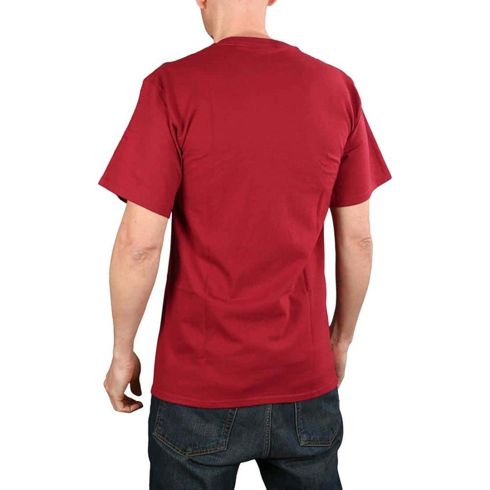 HUF Essentials OG Logo S/S T-Shirt - Burgundy