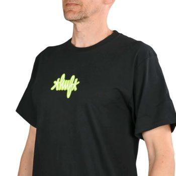HUF Landmark Logo S/S T-Shirt - Black