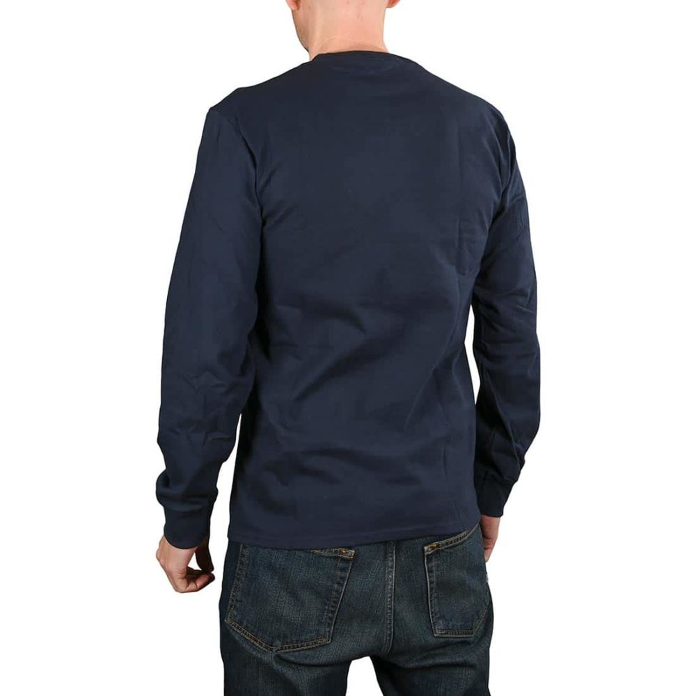 HUF Untitled L/S T-Shirt - French Navy