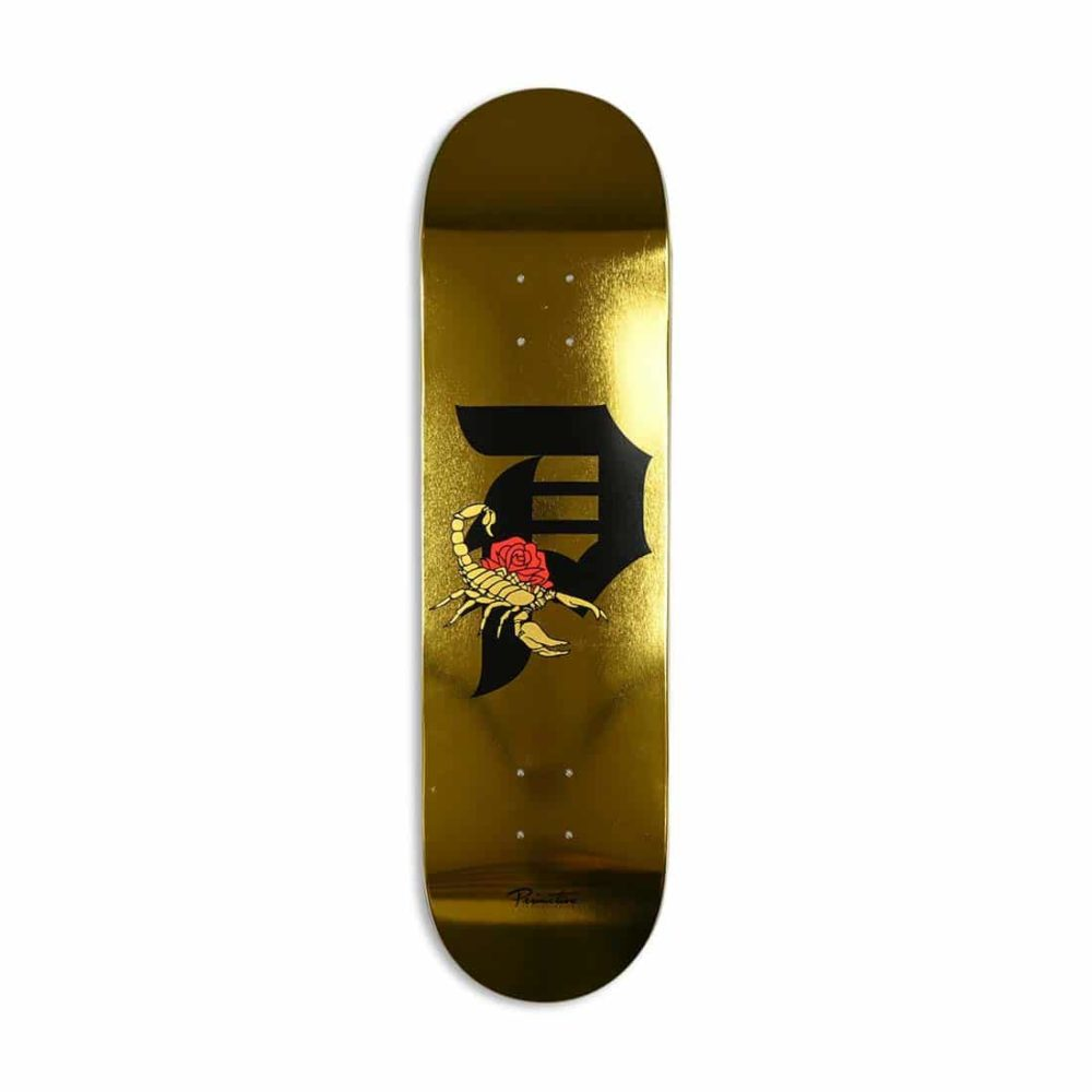"Primitive Team Dirty P Scorpion 8.5"" Skateboard Deck - Gold"