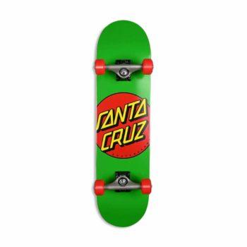 "Santa Cruz Classic Dot Mid 7.8"" Complete Skateboard - Green"