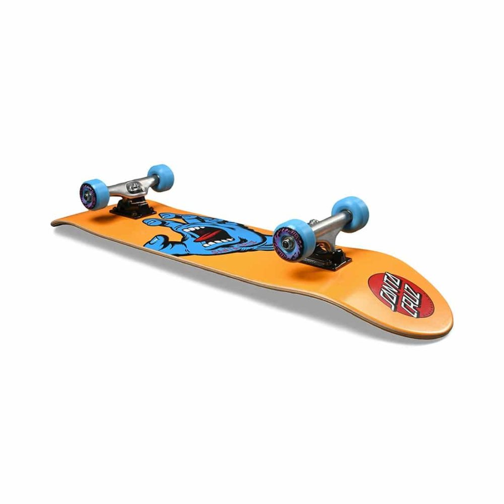 "Santa Cruz Screaming Hand Mid 7.8"" Complete Skateboard - Orange"