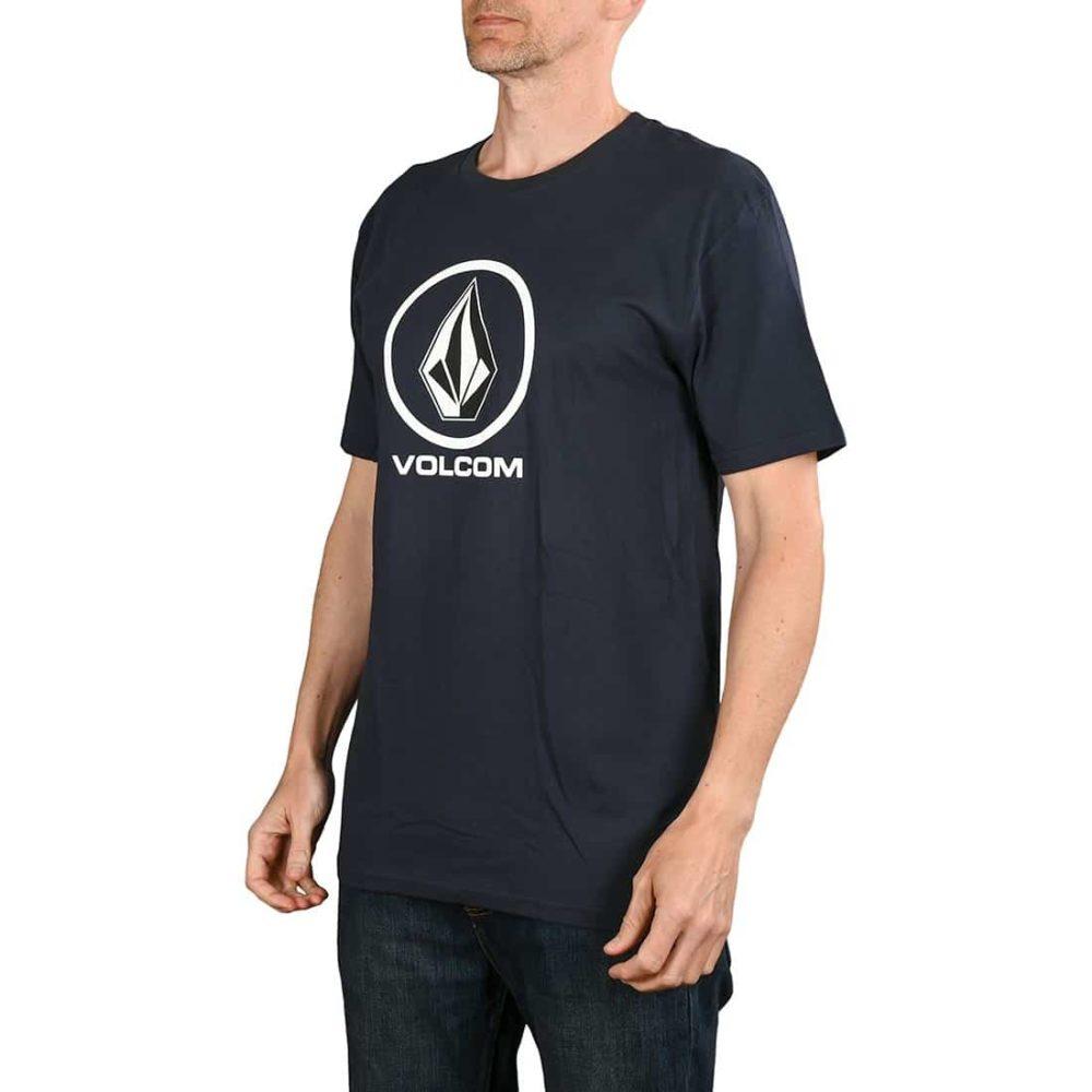 Volcom Crisp Stone BSC S/S T-Shirt - Navy