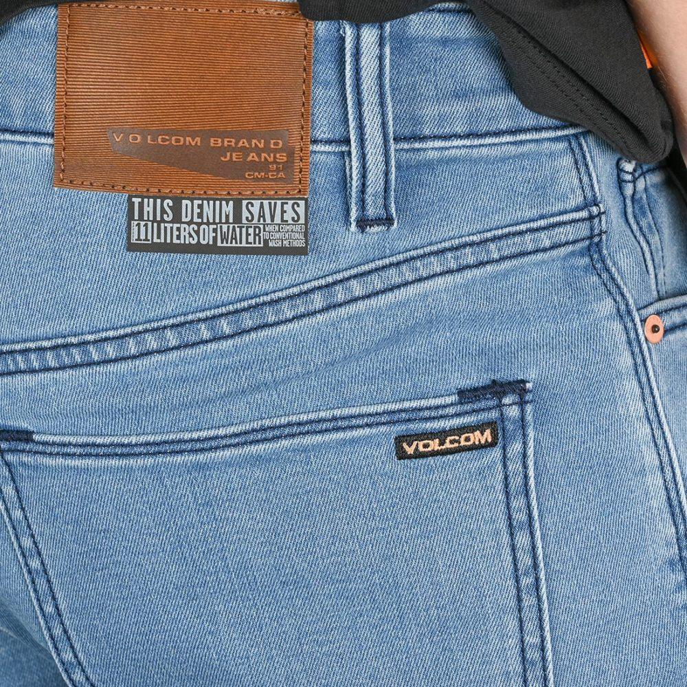 Volcom Solver Tapered Denim Jeans - Flat Vintage Indigo