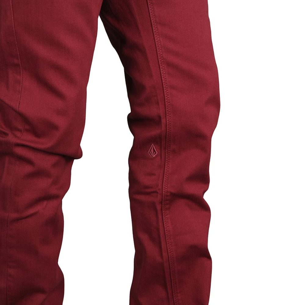 Volcom Vorta 5 Pocket Slub Denim Jeans - Pinot