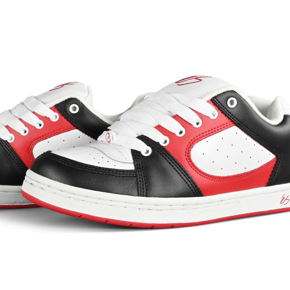 eS Accel OG Skate Shoes - Black / White / Red