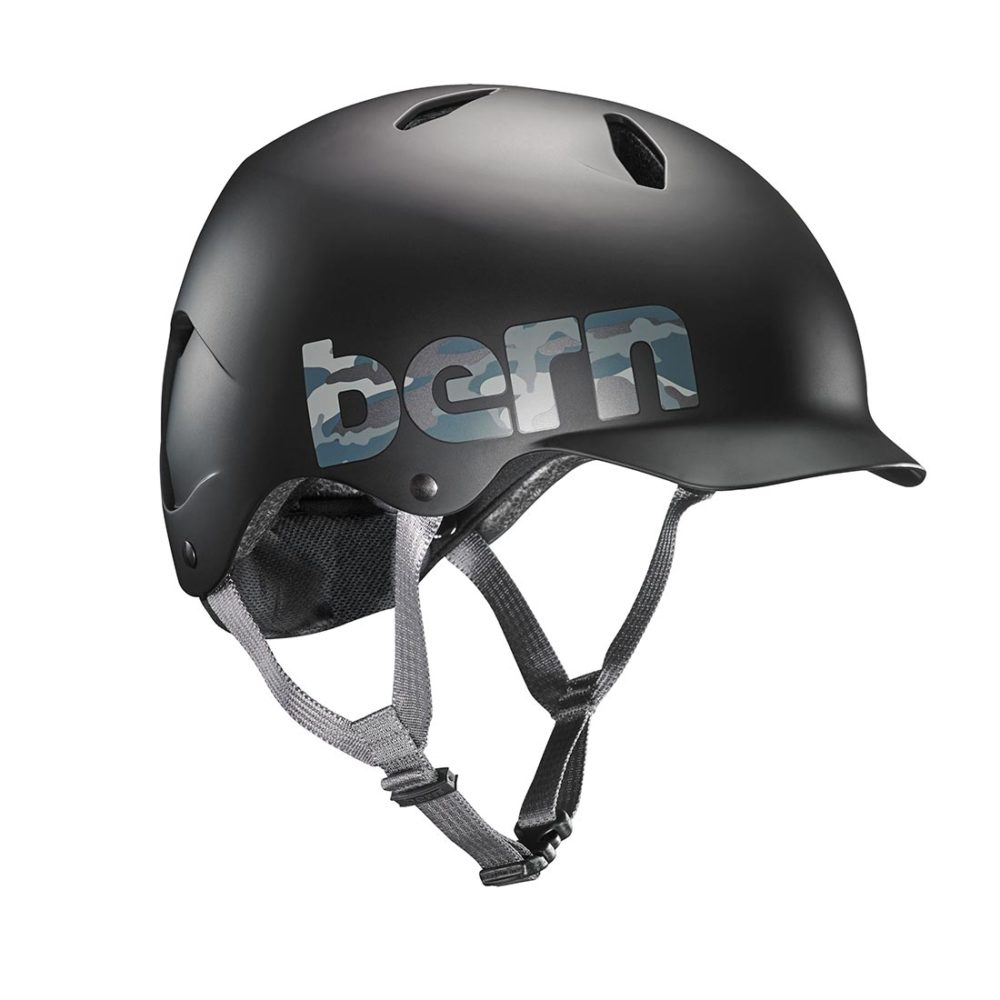 Bern Bandito EPS Youth Helmet - Matte Black / Camo Logo