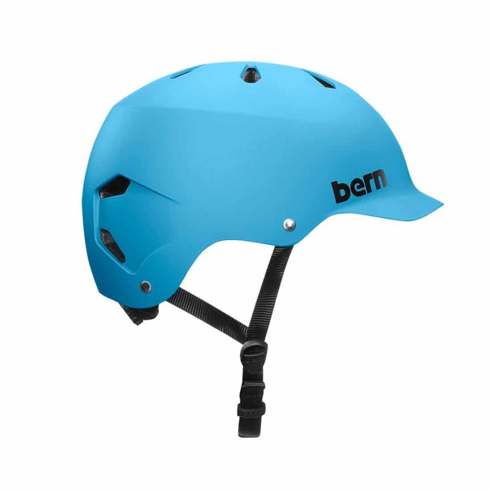 Bern Watts EPS Helmet - Matte Cyan Blue