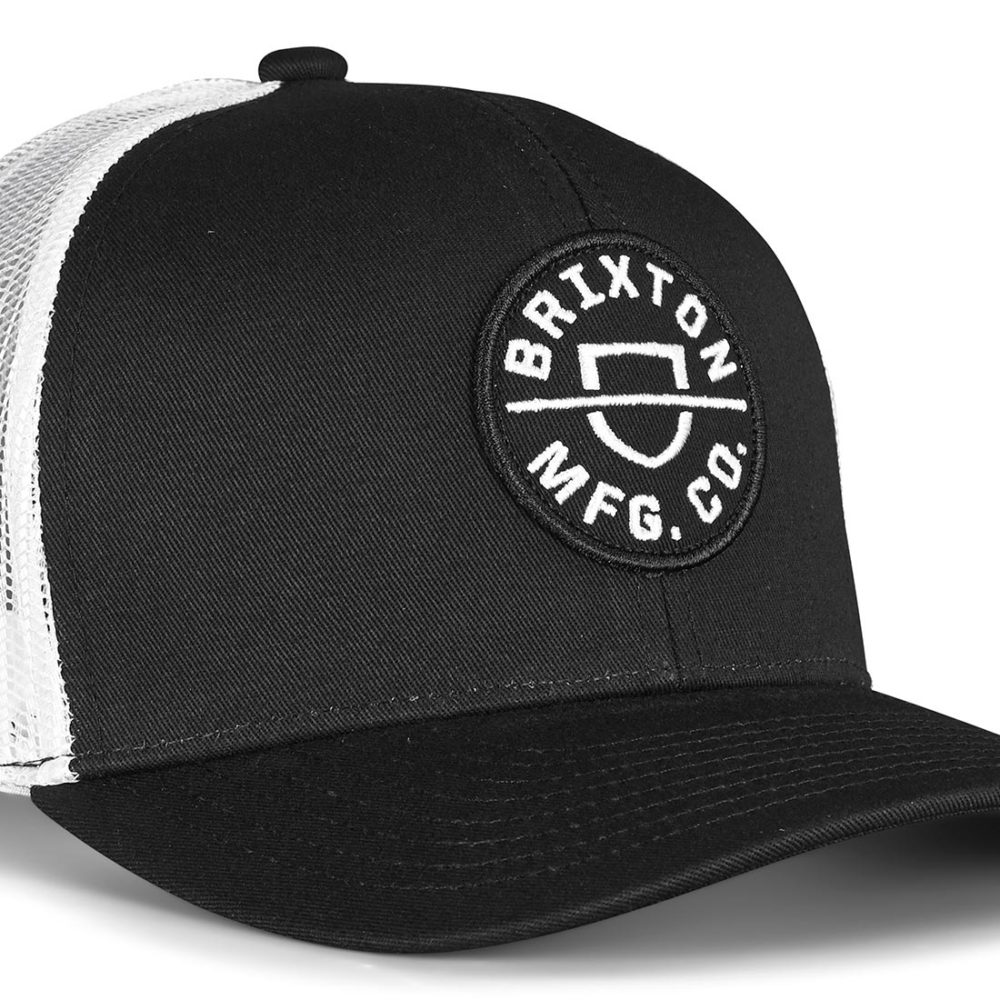 Brixton Crest MP Mesh Back Trucker Cap - Black