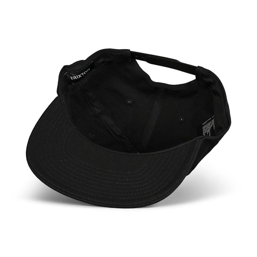 Brixton Grade HP Snapback Hat - Black