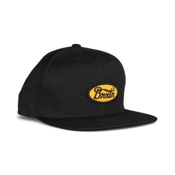 Brixton Parsons MP Snapback Hat - Black