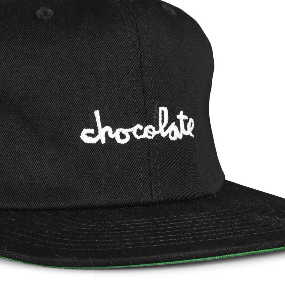 Chocolate Skateboards Chunk 6 Panel Strapback Cap - Black
